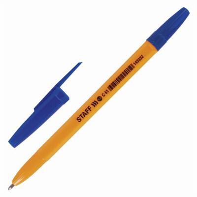 """Купить Ручка шариковая STAFF """"ORANGE C-51"""", СИНЯЯ, корпус оранжевый, узел 1 мм, линия письма 0,5 мм, 143332 в интернет-магазине El-ing"""
