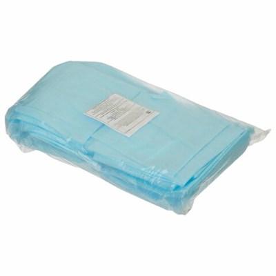 Простыни одноразовые ГЕКСА нестерильные, комплект 40 шт., 70х80 см, спанбонд 25 г/м2, голубые - фото 427016