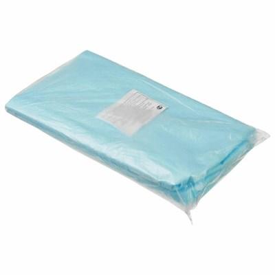 Простыни одноразовые ГЕКСА нестерильные, комплект 20 шт. 70х80 см, спанбонд ламинированный 40 г/м2, голубые - фото 427018