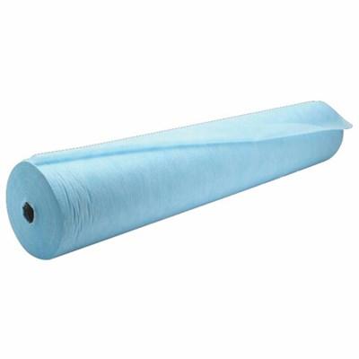 Простыни одноразовые ГЕКСА рулонные с перфорацией 250 шт., 70х80 см, спанбонд ламинированный 40 г/м2, голубые - фото 427027