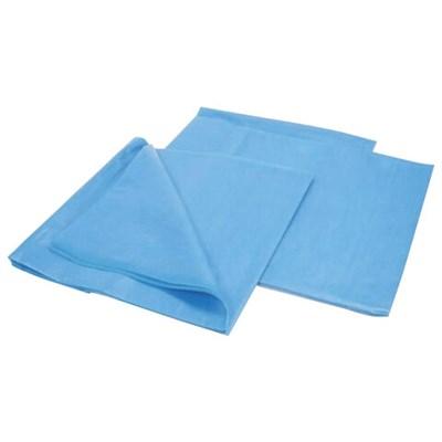 Комплект постельного белья одноразовый КХ-19 ГЕКСА нестерильный, 3 предмета, 25 г/м2, голубой - фото 427032