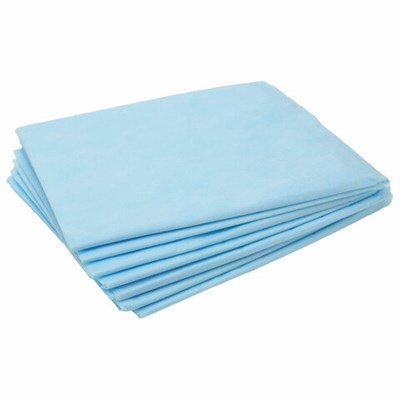 Простыни одноразовые ЧИСТОВЬЕ нестерильные, КОМПЛЕКТ 100 шт., 70х80 см, СМС 14 г/м2, голубые, 01-462 - фото 427059