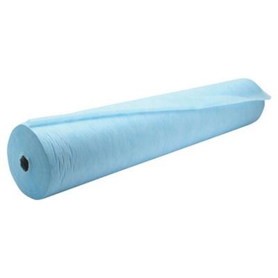 Простыни одноразовые ЧИСТОВЬЕ рулонные с перфорацией 100 шт., 80х200 см, СМС 14 г/м2, голубые, 600-495 - фото 427064