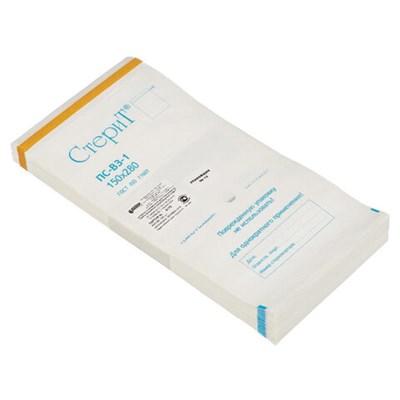 Пакет бумажный самоклеящийся ВИНАР СТЕРИТ, комплект 100 шт., для ПАРОВОЙ/ВОЗДУШНОЙ стерилизации, 150х280 - фото 427328