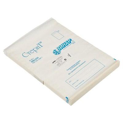 Пакет бумажный самоклеящийся ВИНАР СТЕРИТ, комплект 100 шт., для ПАРОВОЙ/ВОЗДУШНОЙ стерилизации, 200х330 мм - фото 427331