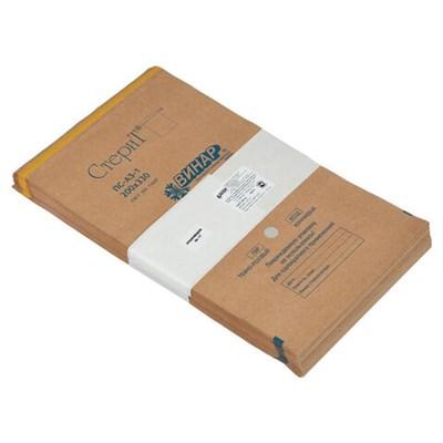 Пакет крафт самоклеящийся ВИНАР СТЕРИТ, комплект 100 шт., для ПАРОВОЙ/ВОЗДУШНОЙ стерилизации, 200х330 мм, 13 - фото 427377