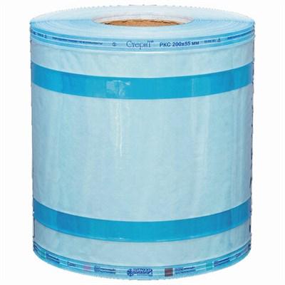 Рулон комбинированный со складкой ВИНАР СТЕРИТ, для ПАРОВОЙ/ГАЗОВОЙ стерилизации, 200 мм х 55 мм х 100 м - фото 427539
