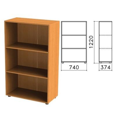 """Шкаф (стеллаж) """"Фея"""", 740х370х1220 мм, 2 полки, цвет орех милан, ШФ13.5 - фото 427723"""