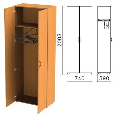 """Шкаф для одежды """"Фея"""", 740х390х2000 мм, цвет орех милан, ШФ17.5 - фото 427724"""