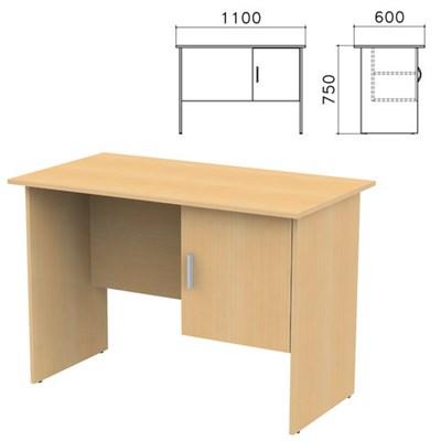 "Стол письменный ""Канц"", 1100х600х750 мм, тумба с дверью, цвет бук невский, СК26.10 - фото 427745"