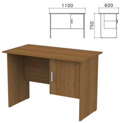 """Стол письменный """"Канц"""", 1100х600х750 мм, тумба с дверью, цвет орех пирамидальный, СК26.9 - фото 427746"""