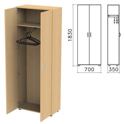 """Шкаф для одежды """"Канц"""", 700х350х1830 мм, цвет бук невский, ШК40.10 - фото 427761"""
