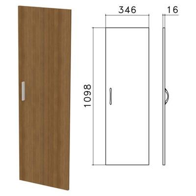 """Дверь ЛДСП средняя """"Канц"""", 346х16х1098 мм, цвет орех пирамидальный, ДК36.9 - фото 427764"""