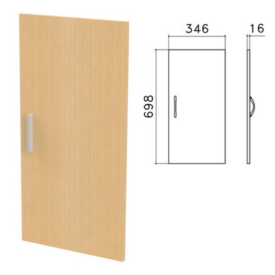 "Дверь ЛДСП низкая ""Канц"", 346х16х698 мм, цвет бук невский, ДК32.10 - фото 427765"