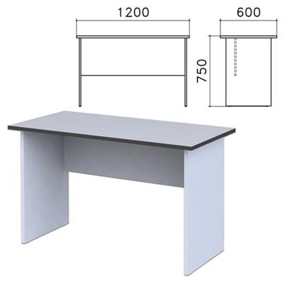 """Стол письменный """"Монолит"""", 1200х600х750 мм, цвет серый, СМ21.11 - фото 427789"""
