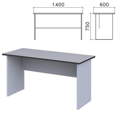"""Стол письменный """"Монолит"""", 1400х600х750 мм, цвет серый, СМ22.11 - фото 427792"""