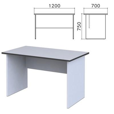 """Стол письменный """"Монолит"""", 1200х700х750 мм, цвет серый, СМ1.11 - фото 427795"""