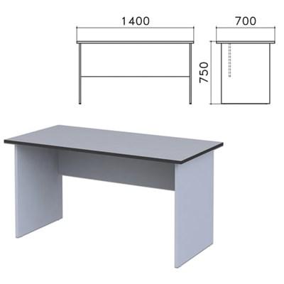 """Стол письменный """"Монолит"""", 1400х700х750 мм, цвет серый, СМ2.11 - фото 427798"""