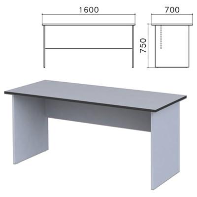 """Стол письменный """"Монолит"""", 1600х700х750 мм, цвет серый, СМ3.11 - фото 427801"""