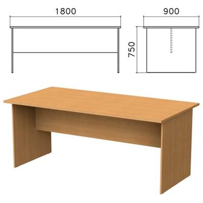 """Стол для переговоров """"Монолит"""", 1800х900х750 мм, цвет бук бавария, СМ18.1 - фото 427817"""