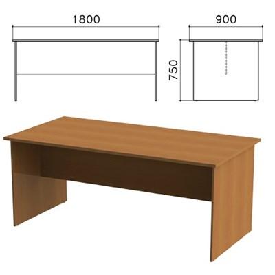 """Стол для переговоров """"Монолит"""", 1800х900х750 мм, цвет орех гварнери, СМ18.3 - фото 427818"""