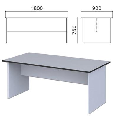 """Стол для переговоров """"Монолит"""", 1800х900х750 мм, цвет серый, СМ18.11 - фото 427819"""