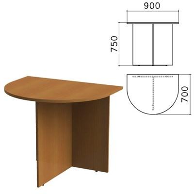 "Стол приставной к столу для переговоров (640111) ""Монолит"", 900х700х750 мм, орех гварнери, ПМ19.3 - фото 427821"