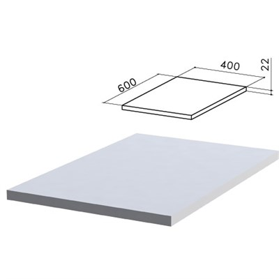 "Крышка для тумбы приставной ""Монолит"", 400х600х22 мм, серый, ТМ02.11 - фото 427862"