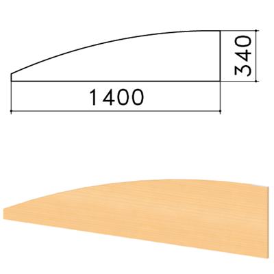 """Экран-перегородка """"Монолит"""", 1400х16х340 мм, БЕЗ ФУРНИТУРЫ (код 640237), бук бавария, ЭМ21.1 - фото 427872"""