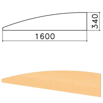 """Экран-перегородка """"Монолит"""", 1600х16х340 мм, БЕЗ ФУРНИТУРЫ (код 640237), бук бавария, ЭМ22.1 - фото 427875"""