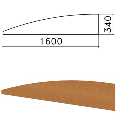 """Экран-перегородка """"Монолит"""", 1600х16х340 мм, БЕЗ ФУРНИТУРЫ (код 640237), орех гварнери, ЭМ22.3 - фото 427876"""