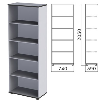 "Шкаф (стеллаж) ""Монолит"", 740х390х2050 мм, 4 полки, цвет серый, ШМ44.11 - фото 427880"