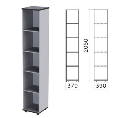 "Шкаф (стеллаж) ""Монолит"", 370х390х2050 мм, 4 полки, цвет серый, КМ45.11 - фото 427883"