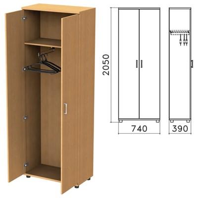 "Шкаф для одежды ""Монолит"", 740х390х2050 мм, цвет бук бавария, ШМ49.1 - фото 427884"