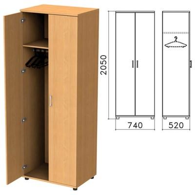 "Шкаф для одежды ""Монолит"", 740х520х2050 мм, цвет бук бавария, ШМ50.1 - фото 427887"