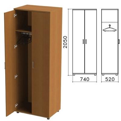 "Шкаф для одежды ""Монолит"", 740х520х2050 мм, цвет орех гварнери, ШМ50.3 - фото 427888"