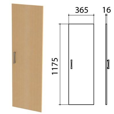 "Дверь ЛДСП средняя ""Монолит"", 365х16х1175 мм, цвет бук бавария, ДМ42.1 - фото 427912"