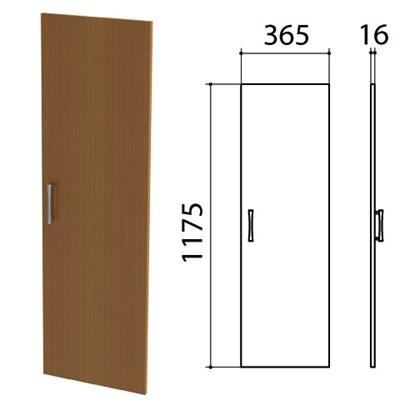 "Дверь ЛДСП средняя ""Монолит"", 365х16х1175 мм, цвет орех гварнери, ДМ42.3 - фото 427913"
