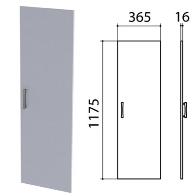 "Дверь ЛДСП средняя ""Монолит"", 365х16х1175 мм, цвет серый, ДМ42.11 - фото 427914"