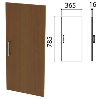 "Дверь ЛДСП низкая ""Монолит"", 365х16х785 мм, цвет орех гварнери, ДМ41.3 - фото 427916"