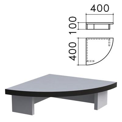 """Подставка под монитор """"Монолит"""", 400х400х100 мм, цвет серый, ПМ03.11 - фото 427923"""