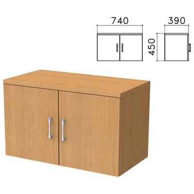 """Шкаф-антресоль """"Монолит"""", 740х390х450 мм, цвет бук бавария, АМ01.1 - фото 427927"""