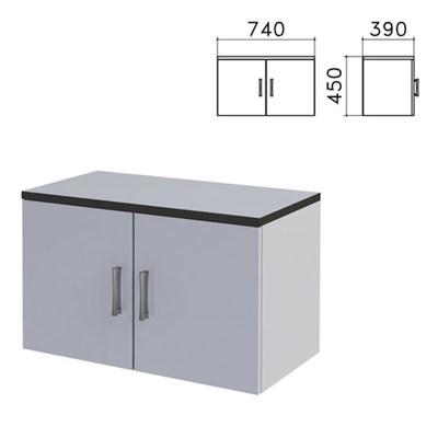 """Шкаф-антресоль """"Монолит"""", 740х390х450 мм, цвет серый, АМ01.11 - фото 427929"""