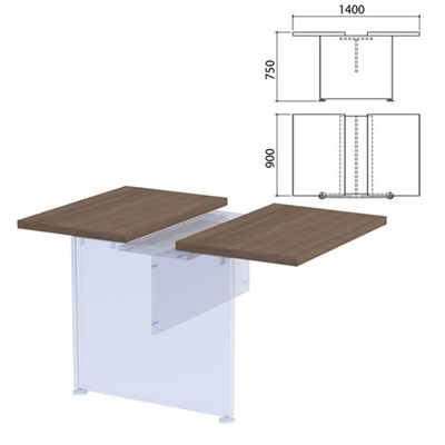"Столешница модуля стола для переговоров ""Приоритет"", 1400х900х750 мм, гарбо, К-913, К-913 гарбо - фото 428029"