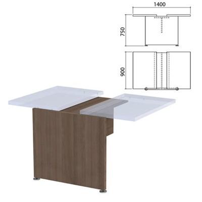 """Каркас модуля стола для переговоров """"Приоритет"""", 1400х900х750 мм, гарбо, К-914, К-914 гарбо - фото 428030"""