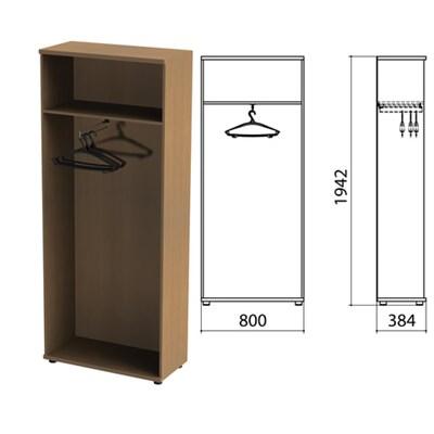 "Шкаф (каркас) для одежды ""Этюд"", 800х384х1942 мм, онтарио160, 400001-160 - фото 428070"
