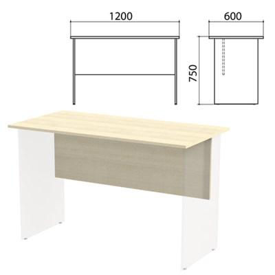 "Столешница, царга стола письменного ""Канц"" 1200х600х750 мм, цвет дуб молочный, СК22.15.1 - фото 428099"