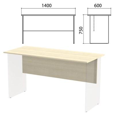 "Столешница, царга стола письменного ""Канц"" 1400х600х750 мм, цвет дуб молочный, СК21.15.1 - фото 428101"
