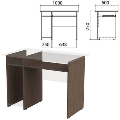 "Каркас к столу компьютерному ""Канц"" 1000х600х750 мм, цвет венге, СК24.16.2 - фото 428110"