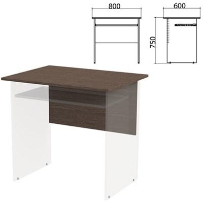 "Столешница, царга стола компьютерного ""Канц"" 800х600х750 мм, цвет венге, СК25.16.1 - фото 428112"